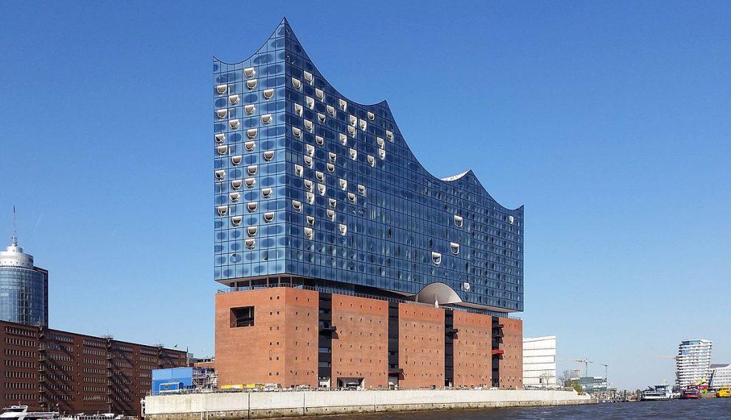Philharmonie de l'Elbe à Hambourg, exemple d'architecture en béton brut
